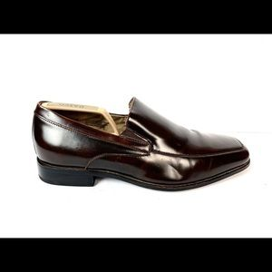 Stacy Adams Jonah Leather Brown Shoes 24671 Sz 9.5